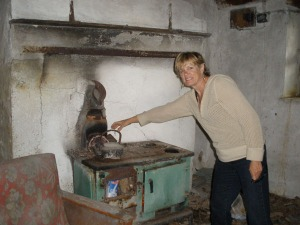 Old stove in homestead cottage in County Cavan, Ireland