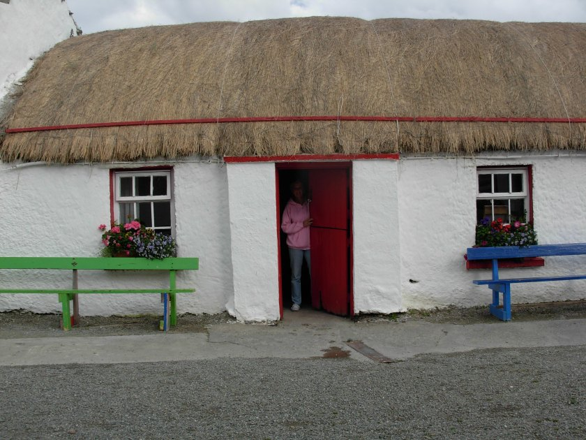 Thatch house in Ireland