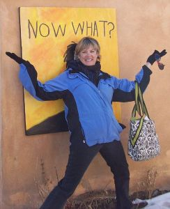 photo of artist drawing in santa fe, nm
