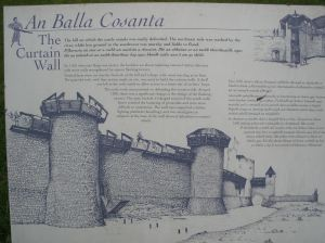 Balla Cosanta: The Curtain Wall - photo of a castle wall