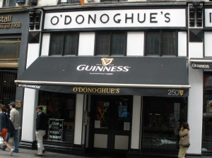 O'Donoghues pub in Dublin