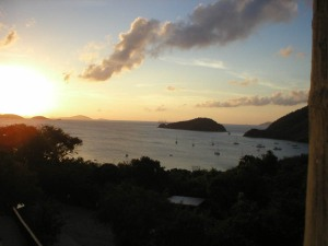 Sunset on Maho Bay, BVI