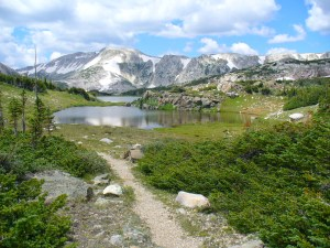 Hiking Trail in Medicine Bow Range - Wyoming