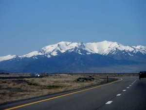 Beautiful mountain range on I-80 to Nevada