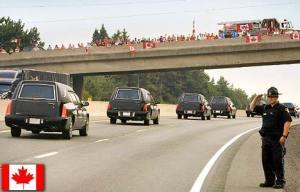 Highway of Heroes in Canada