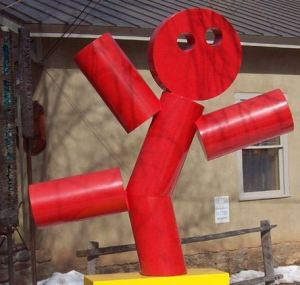 Red Man art work on display in Santa Fe, NM (USA)