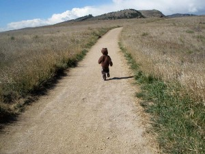 First hike for young boy