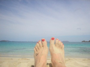 Cinnamon Bay feet