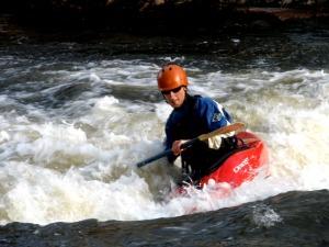 kayak in south st vrain river