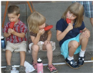 eating popsicles