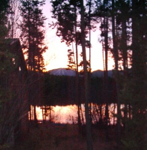 Sunrise on Lake Columbine