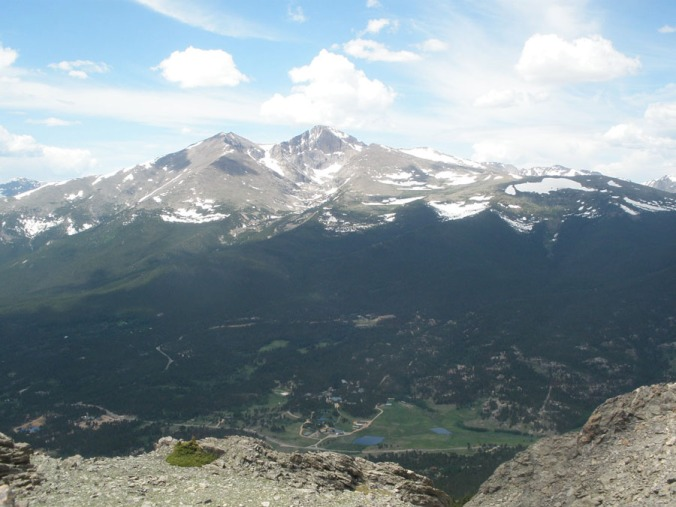 view of longs peak from twin sisters peak