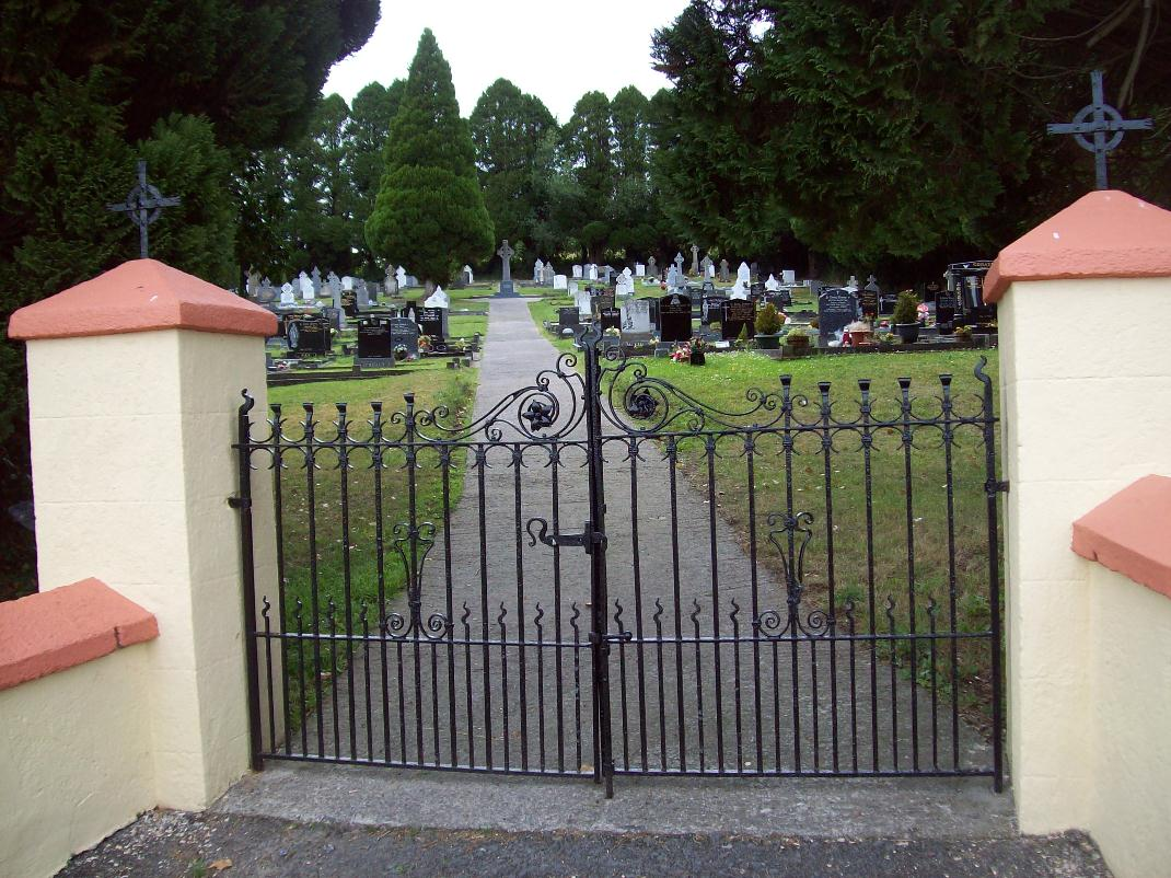 entrance to cemetary in Ireland