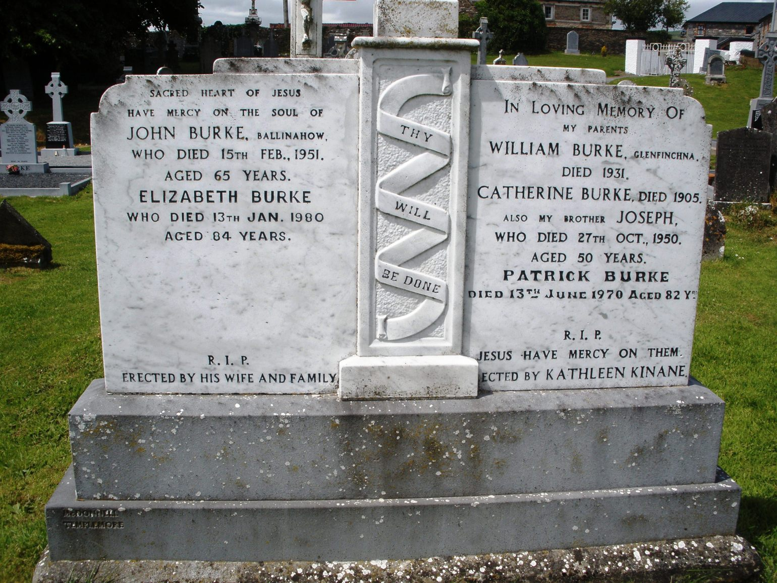 Burke gravestone in ireland