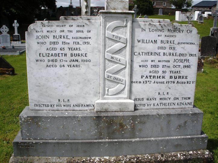 Burke gravestone in ireland