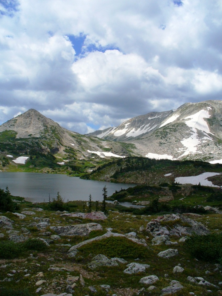 A mountain lake in Medicine Bow, WY