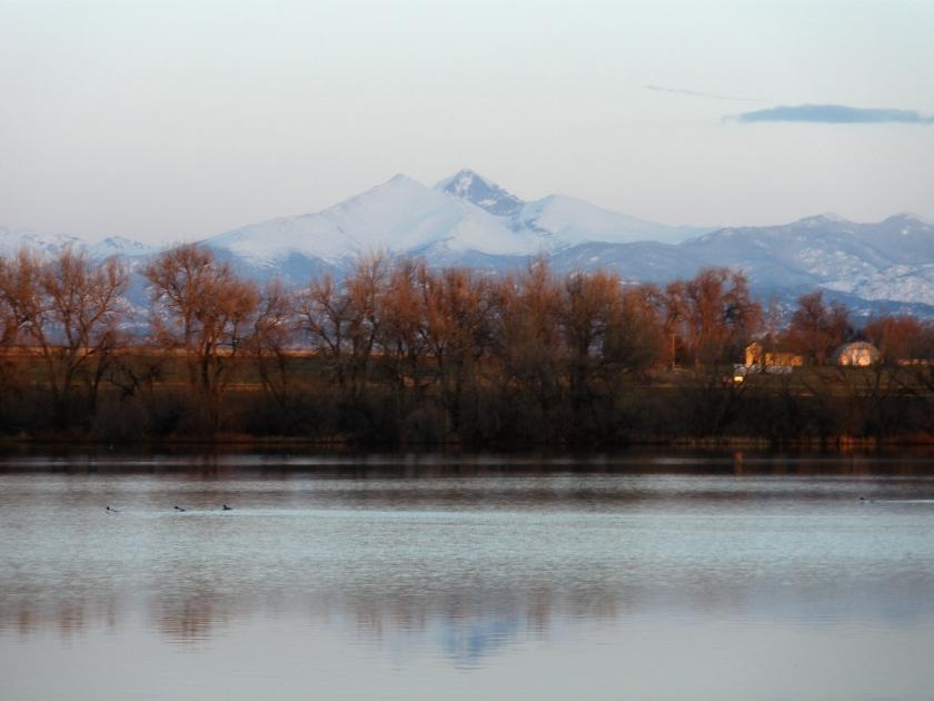 Mountains over Mead Colorado