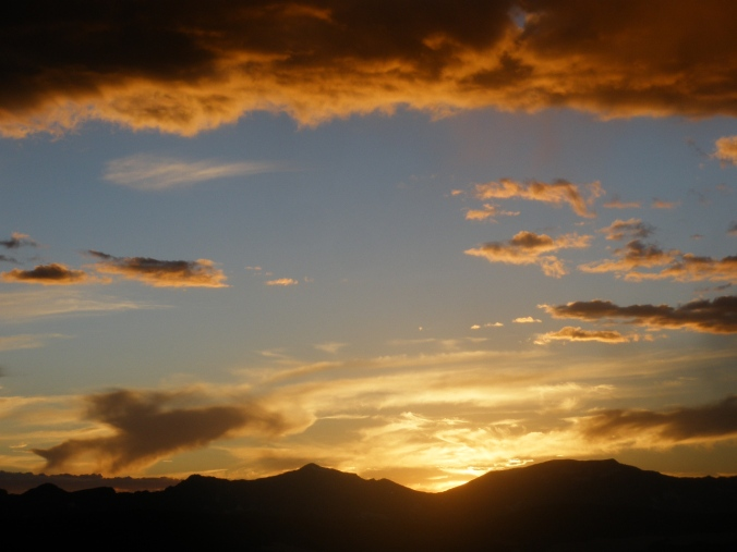 sunset in rocky mountain national park