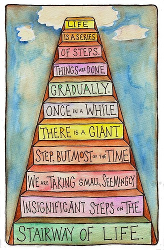life steps quote