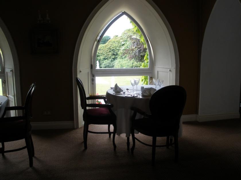 a dining room window in ireland