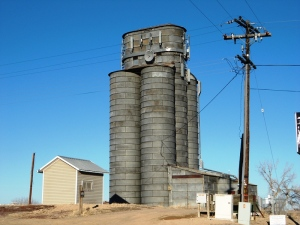 Silo and cell phone towers