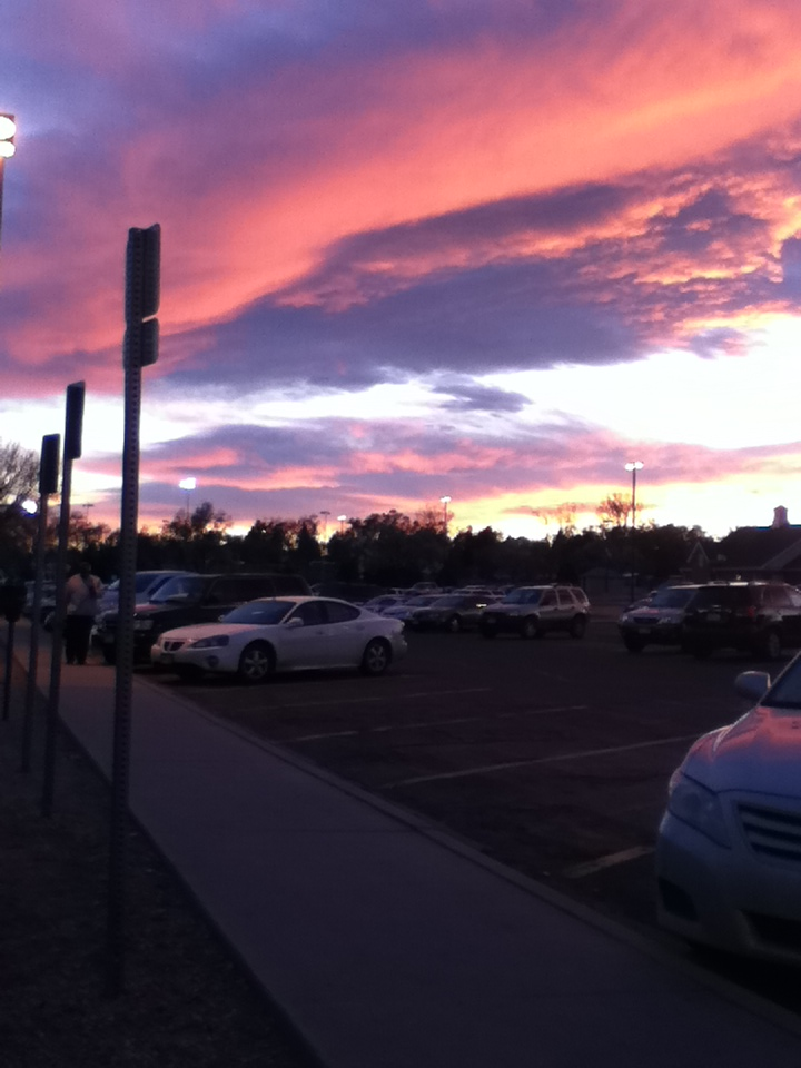 sunset in Greeley Colorado