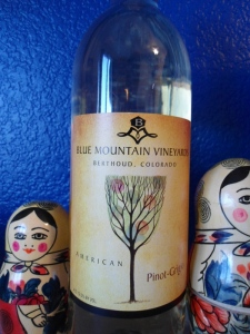 Blue Mountain Vineyards, Berthoud Colorado  - Pinot Grigio wine