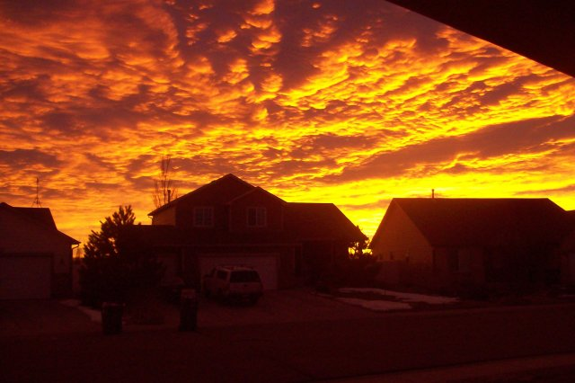 sunrise in Mead, Colorado