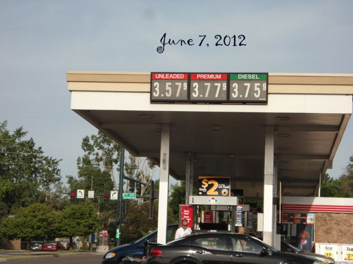 Price of gas in Greeley Colorado on June 7 - 2012