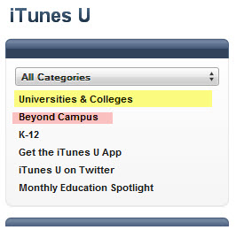 Ongoing learning at iTunes University