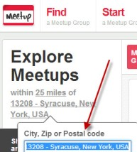 Use meetup.com to connect locally