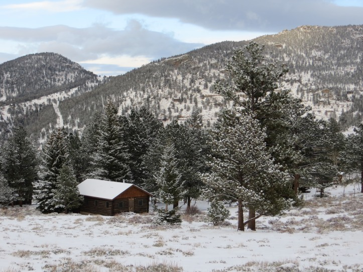Rustic Rocky Mountain Log Cabin - A girl can dream, right?