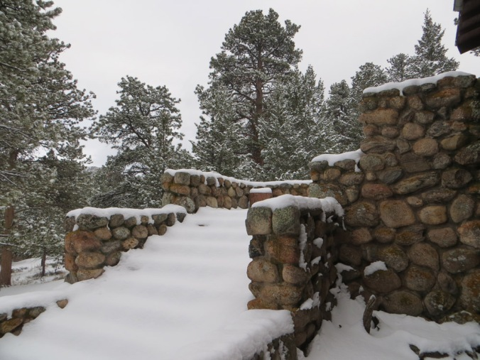 Snowy steps at YMCA of the Rockies in Estes Park