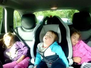 3 children sleeping