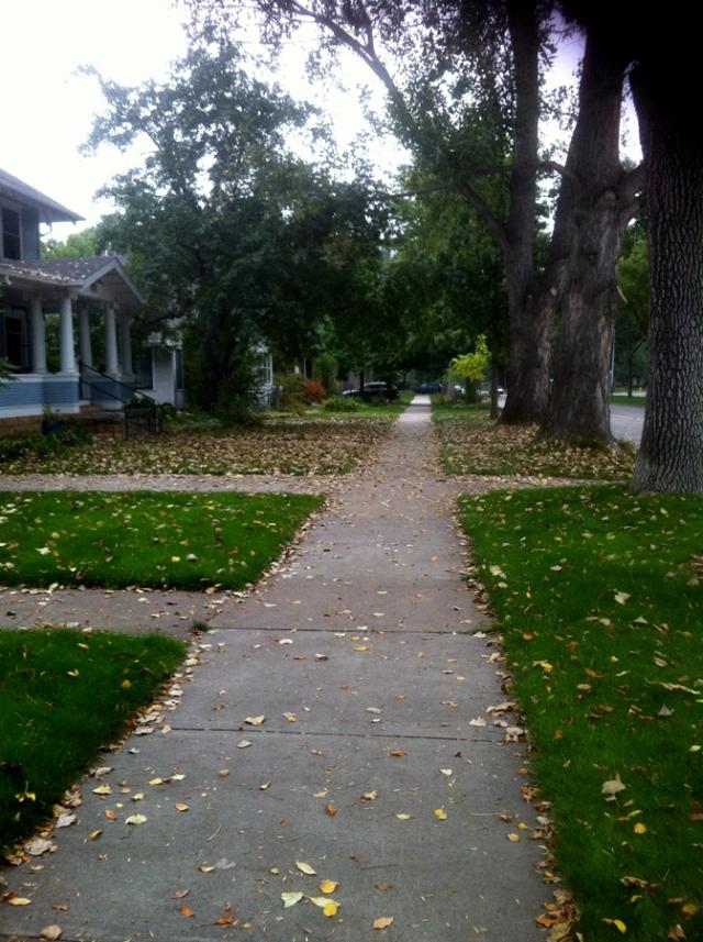 Fort Collins, Colorado neighborhood - house sidewalk