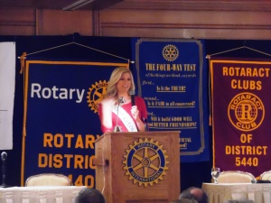 Nurse Kelly speaks at Rotary Assembly in Cheyenne, WY
