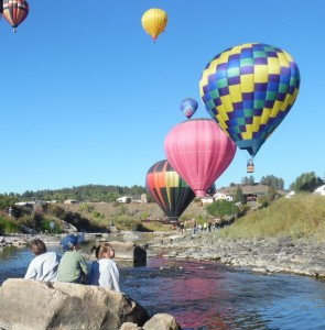 hot air balloons in Pagosa Springs, CO