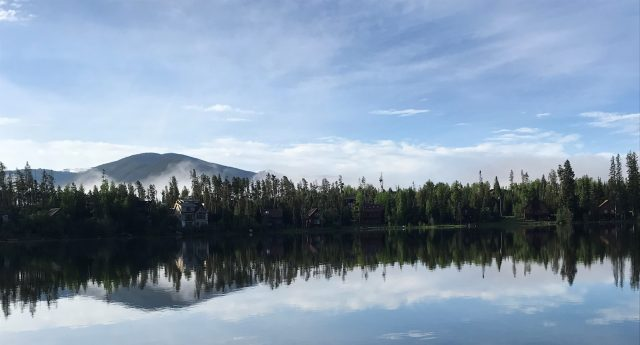 Happily after retirement, enjoying life in the early morning in Grand Lake, CO.