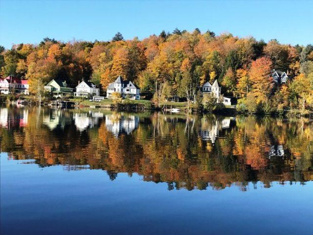 Peak colors in Saranac Lake NY, 2019