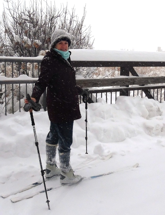 Happily After Retirement while cross country skiing, in Fort Collins, CO