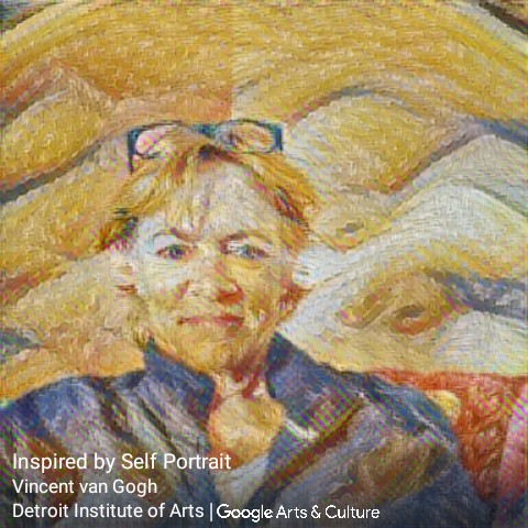 Inspired by self portrait of margie.merc van gogh style - Detroit Institute of Arts