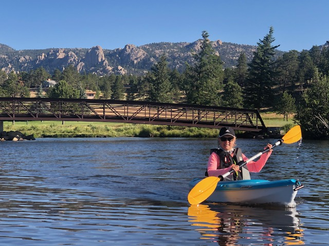 kayaking on Lake Estes, Estes Park, CO for my sanity during coroanvirus summer