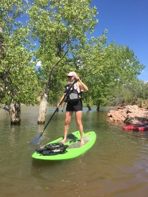 paddle boarding on Horsetooth Reservoir, Fort Collins, Colorado for my sanity during coroanvirus summer