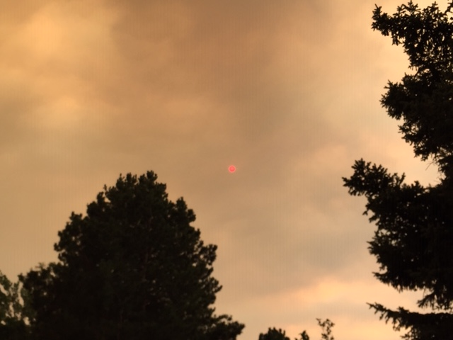 Smoke filled sky from Cameron Peak wildfires, Sept 2020 Fort Collins, CO